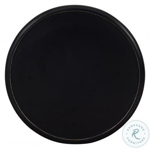 Decker Antique Black Small Drum Table