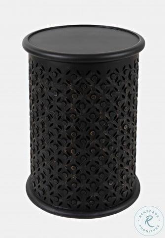 Decker Antique Black Drum Table