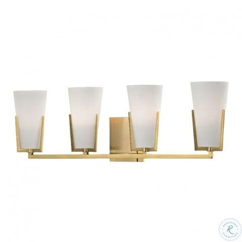 Upton Aged Brass 4 Light Bath Bracket