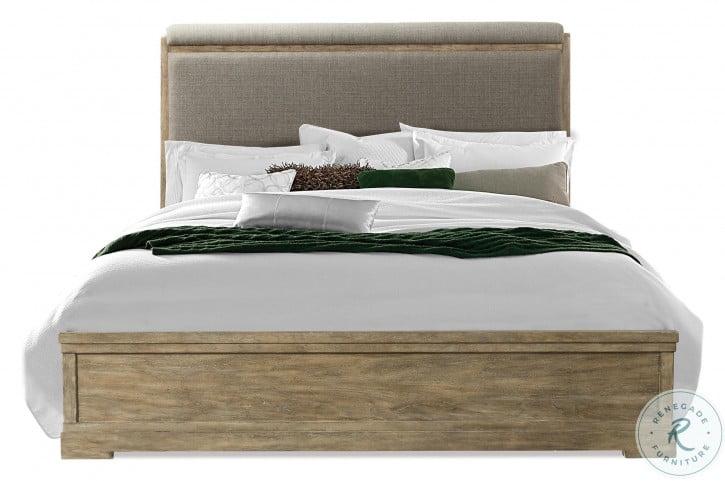 Milton Park Primitive Silk Cal. King Upholstered Panel Bed