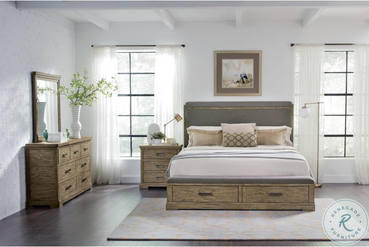 Milton Park Primitive Silk King Upholstered Storage Platform Bed