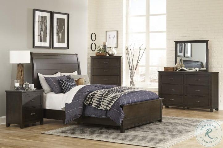 Hebron Dark Cherry Sleigh Bedroom Set