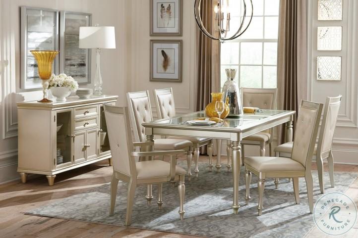 Celandine Silver Extendable Dining Room Set