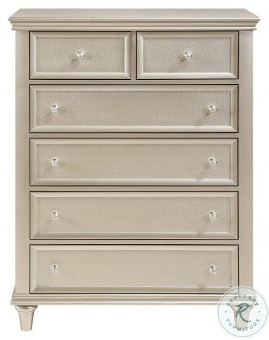 Celandine Silver Youth Upholstered Panel Bedroom Set