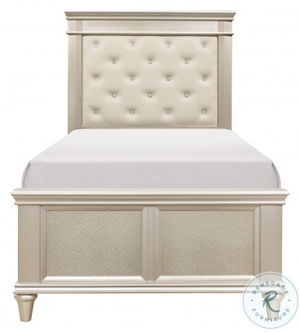 Celandine Silver Twin Panel Bed
