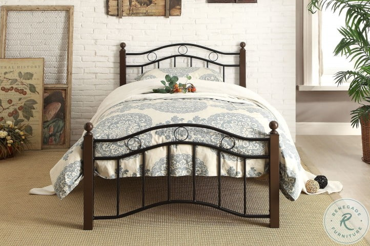 Averny Black Twin Metal Poster Bed