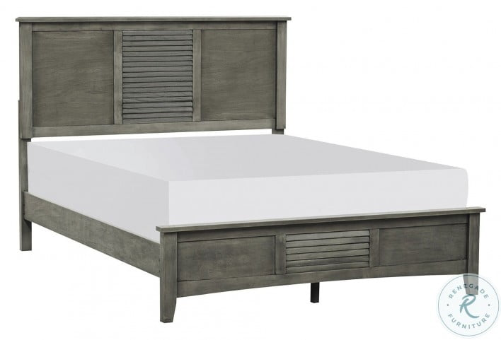 Garcia Gray Cal. King Panel Bed