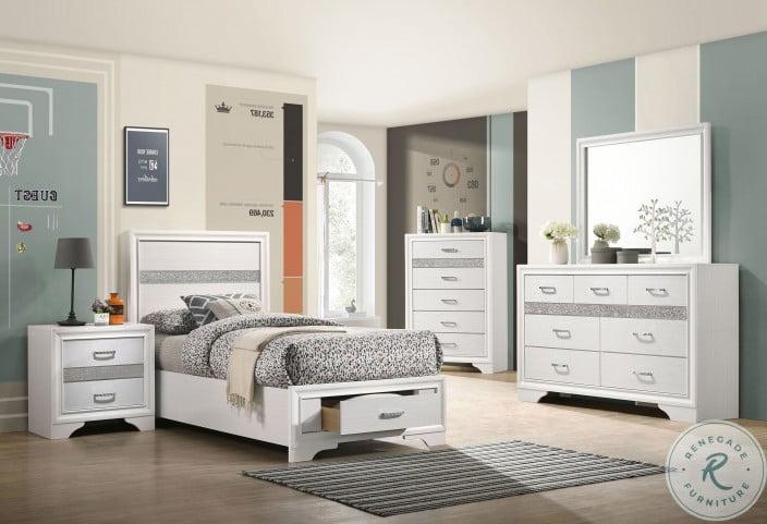 Miranda White Youth Storage Platform Bedroom Set