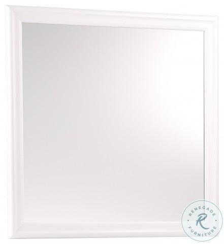 Mayville White Mirror