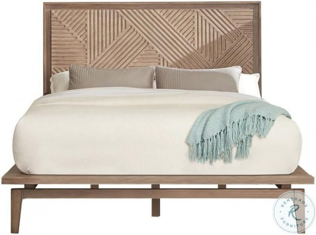 Vanowen Sandstone Wood Queen Platform Bed