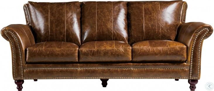 Georgetowne Butler Brown Leather Living Room Set