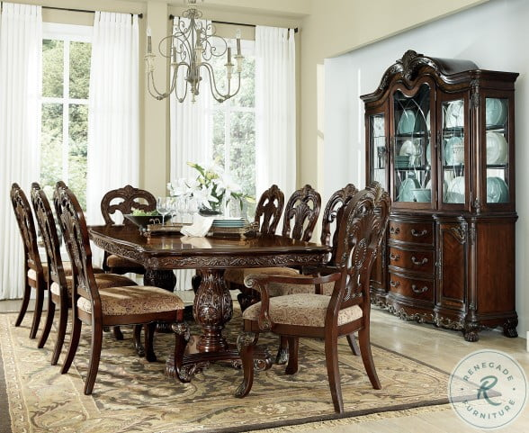 Deryn Park Cherry Extendable Leg Dining Room Set