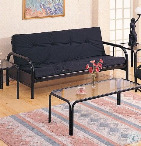2334 Black Futon Sofa Frame