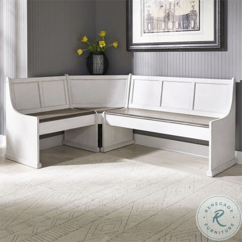 Magnolia Manor Antique White Nook Dining Sectional