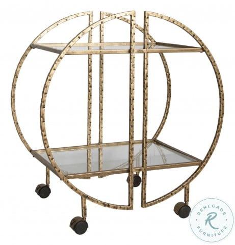 Zelina Gold Bar Cart