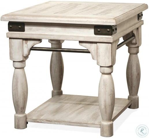 Regan Farmhouse White End Table