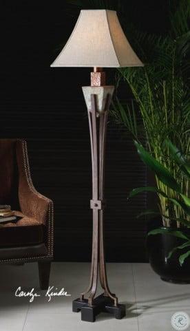 Slate Metal Outdoor Floor Lamp