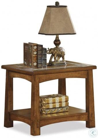 Craftsman Home Americana Oak End Table