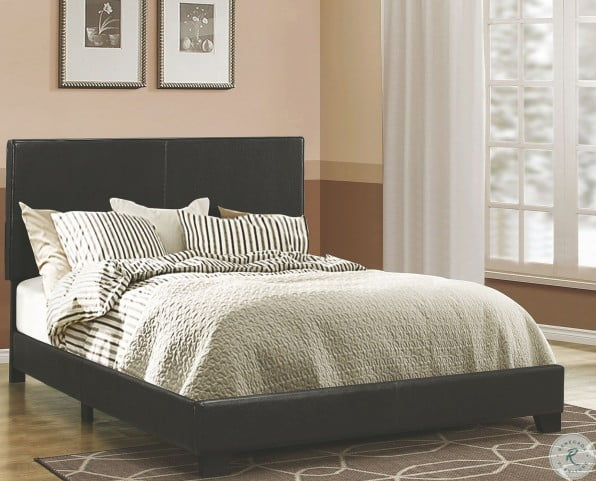 Dorian Brown Upholstered Twin Panel Bed
