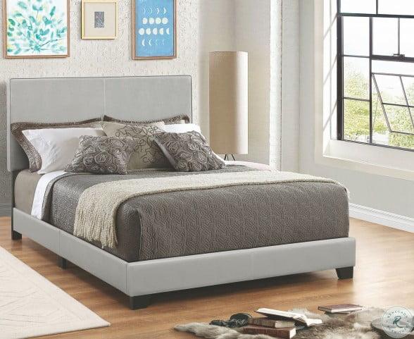 Dorian Grey Upholstered Queen Panel Bed