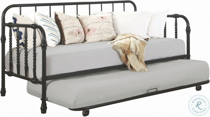 Marina Black Twin Daybed With Trundle