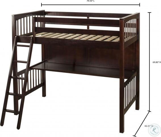Pulse Cherry Twin Loft Bed