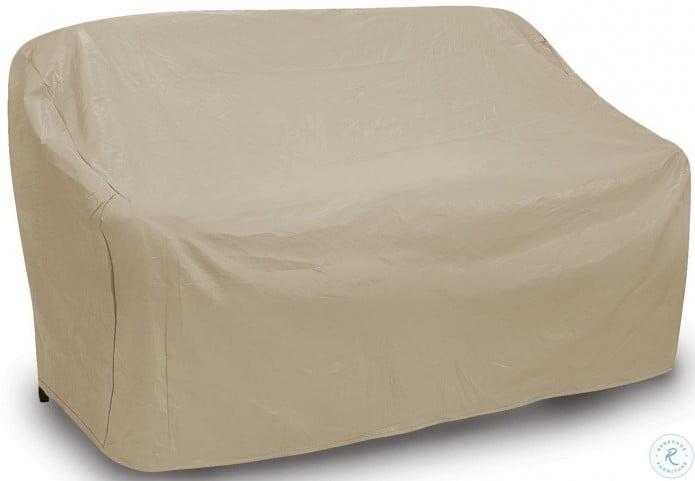 Tan Three Seat Wicker Outdoor Sofa Cover