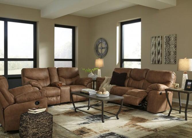 Boxberg Bark Reclining Living Room Set