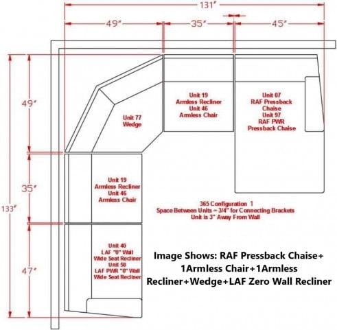 Clonmel Charcoal Reclining RAF Sectional