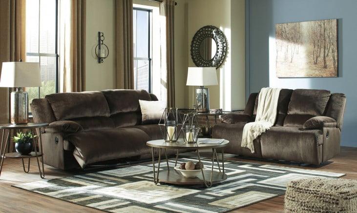 Clonmel Chocolate 2 Seat Reclining Living Room Set