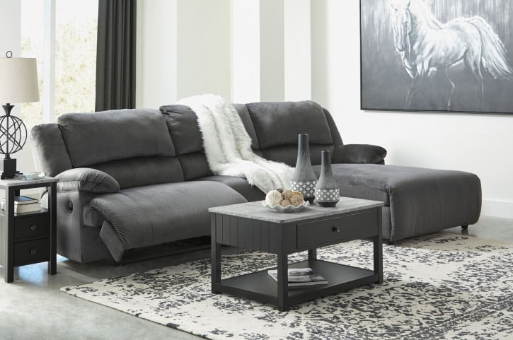 Clonmel Charcoal Small Reclining RAF Sectional