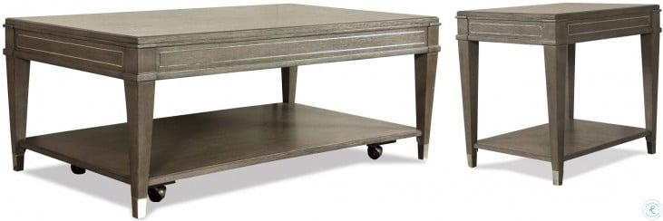 Dara Two Gray Wash Rectangular End Table