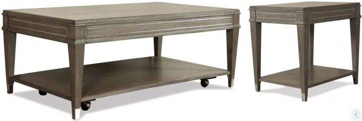 Dara Two Gray Wash Rectangular Cocktail Table