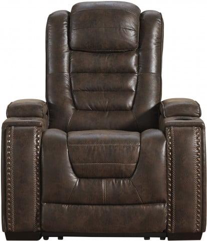 Game Zone Bark Power Recliner with Adjustable Headrest