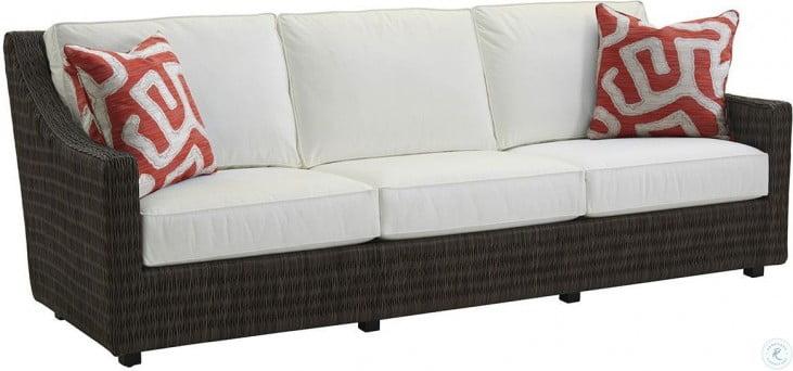Cypress Point Ocean Terrace Aged Iron Outdoor Long Sofa