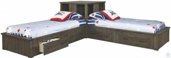 Napoleon Gunsmoke Youth Corner Platform Bedroom Set