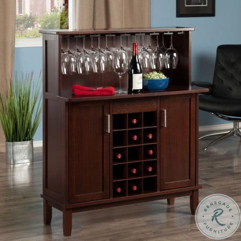 Beynac Cappuccino Wine Bar Cabinet