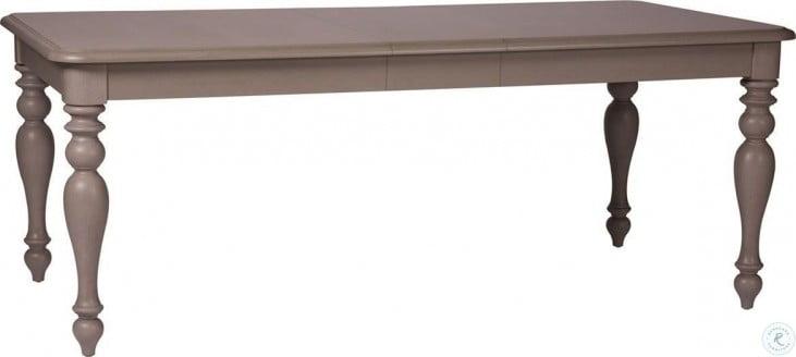 Summer House Dove Grey Rectangular Leg Extendable Dining Room Set