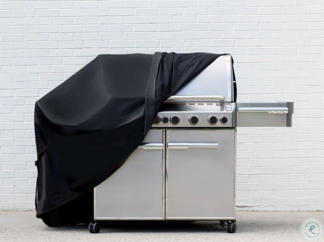 Black Large Outdoor Grill Cover