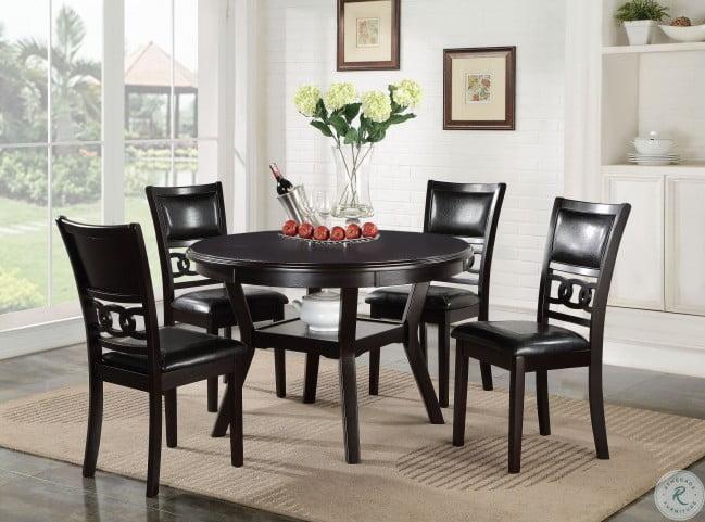 Gia Brown 5 Piece Round Dining Room Set