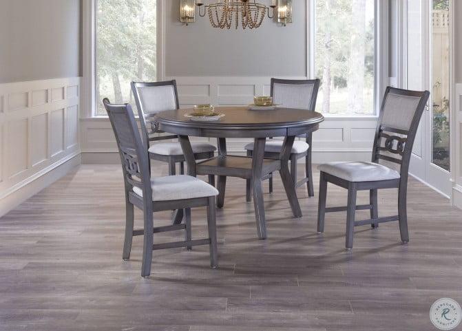Gia Gray 5 Piece Round Dining Room Set