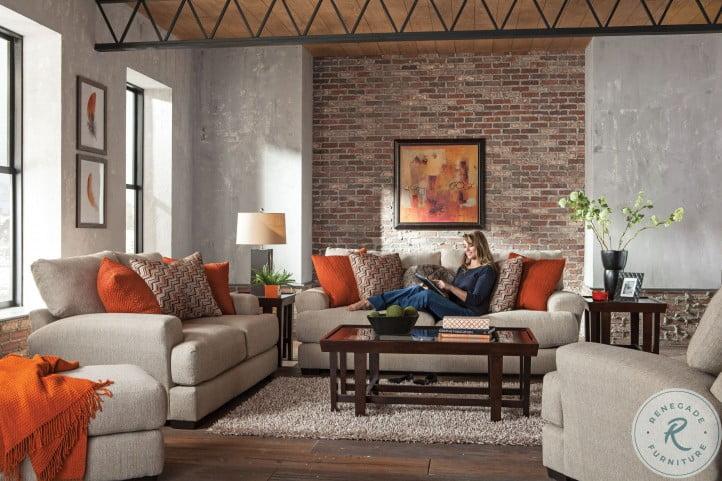 Ava Cashew Living Room Set