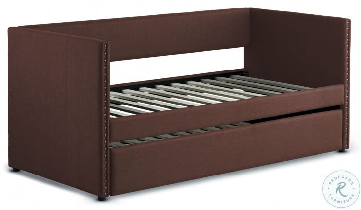 Therese Chocolate Twin Daybed with Trundle