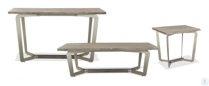 Waverly Sandblasted Gray End Table