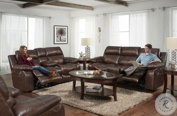 Positano Cocoa Reclining Living Room Set
