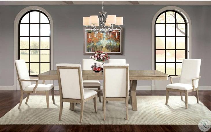 "Sophie Natural 78"" Trestle Extendable Dining Room Set"