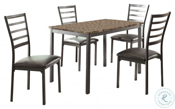 Flannery Faux Marble Dining Room Set