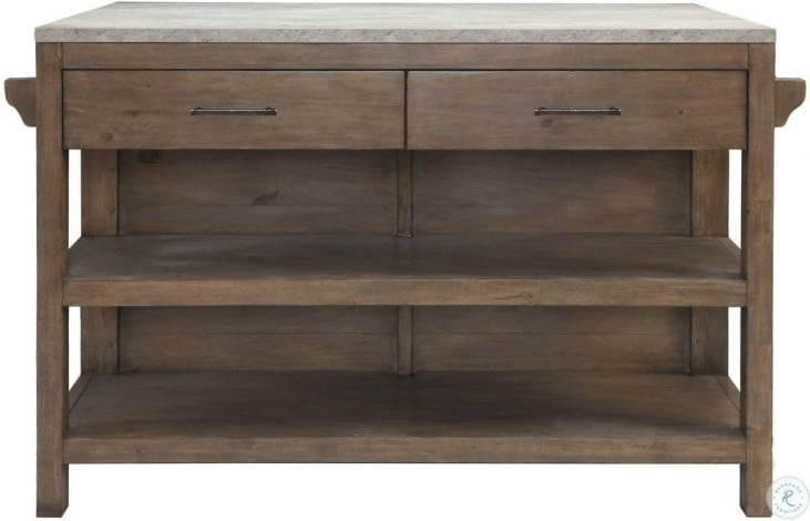 Tanner Brown And Gray Kitchen Island