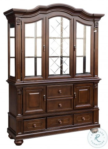 Lordsburg Brown Cherry Buffet with Hutch