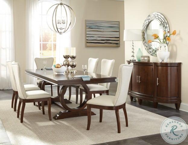 Oratorio Cherry Extendable Trestle Dining Room Set